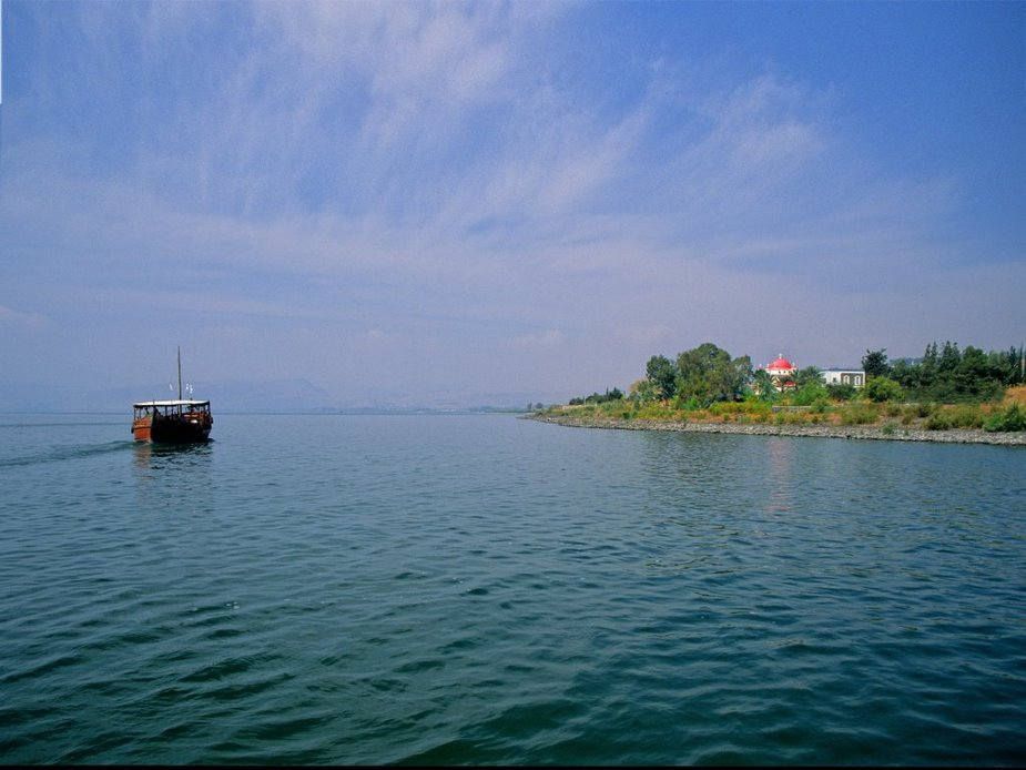 Pictures of the Sea of Galilee at Capernaum